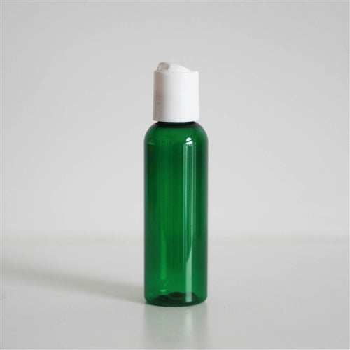 2 oz Green PET Bullet with Disc Cap - White