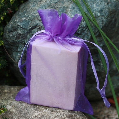 "4"" x 6"" Organza Bag - Violet Purple"