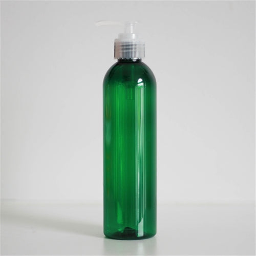 8 oz Green PET Bullet with Pump - Natural