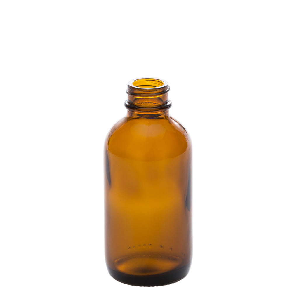 100 ml Amber Glass Bottle with 24-400 Neck