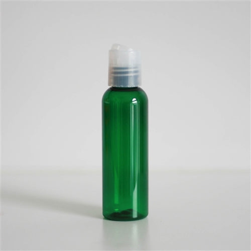 2 oz Green PET Bullet with Disc Cap - Natural