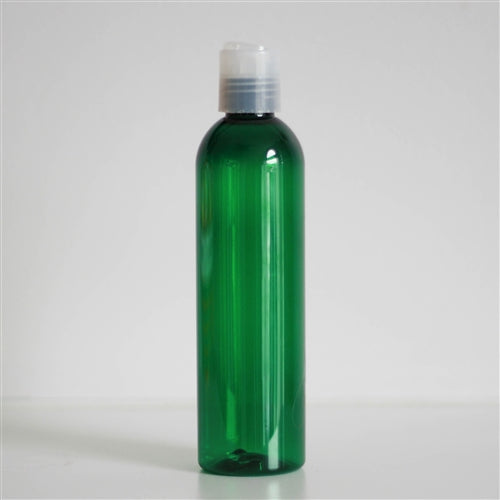 8 oz Green PET Bullet with Disc Cap - Natural