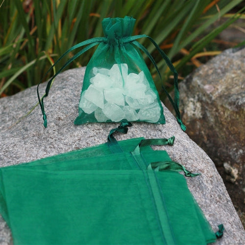 "3"" x 4"" Organza Bag - Forest Green"