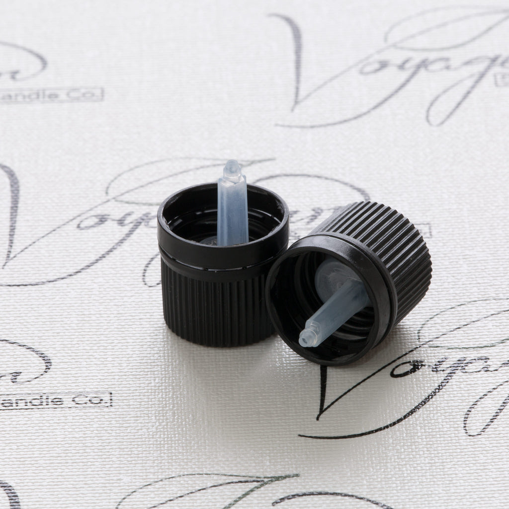 18 mm Black Vertical Dropper Cap