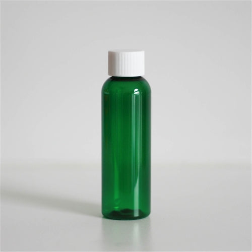 2 oz Green PET Bullet with White Rib Cap