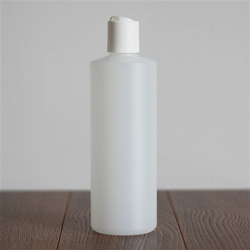 500 ml Natural HDPE Cylinder with Disc Cap - White
