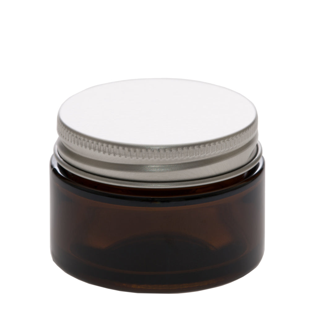 1 oz Amber Glass Jar with 48-400 Aluminum Cap