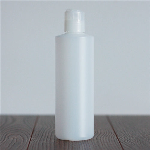 250 ml Natural HDPE Cylinder with Disc Cap - Natural