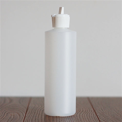 250 ml Natural HDPE Cylinder with White Turret Cap