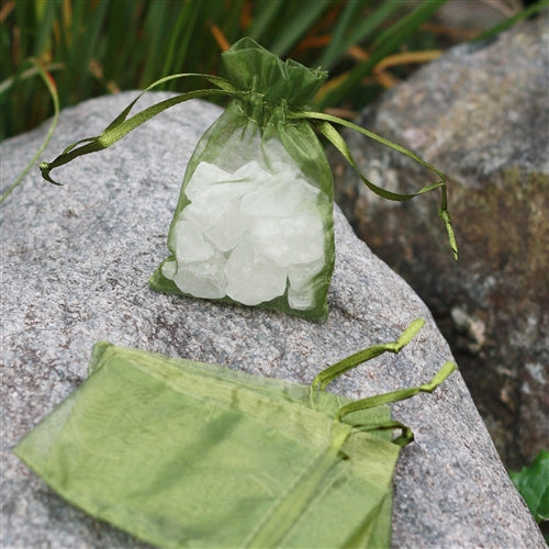 "3"" x 4"" Organza Bag - Sage Green"