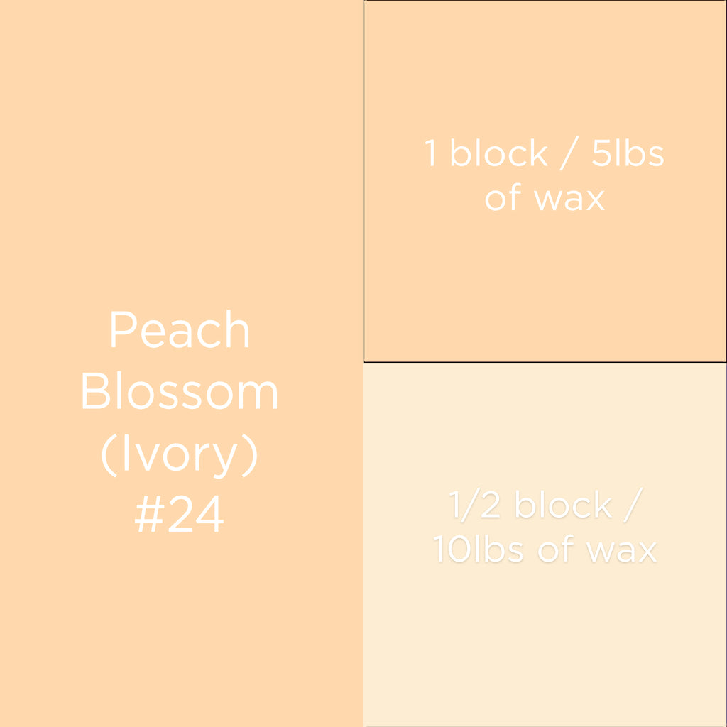 #24 Peach Blossom Ivory Candle Dye Block