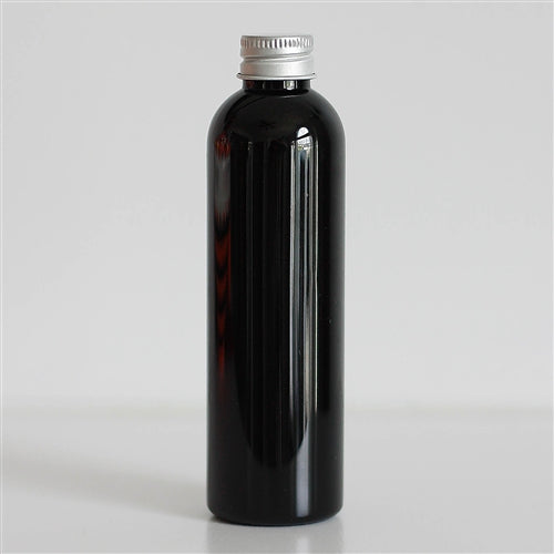 4 oz Black PET Bullet with Aluminum Cap