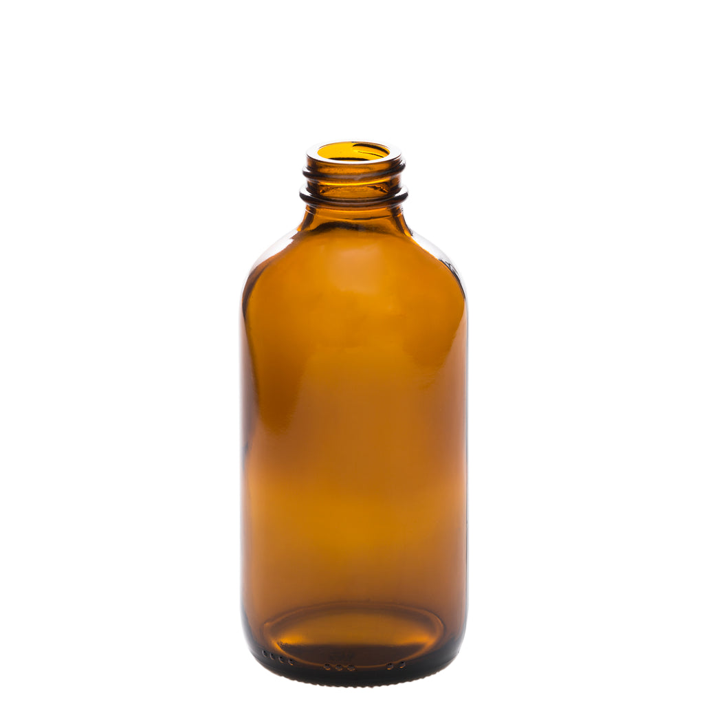 8 oz Amber Glass Bottle with 28-400 Neck