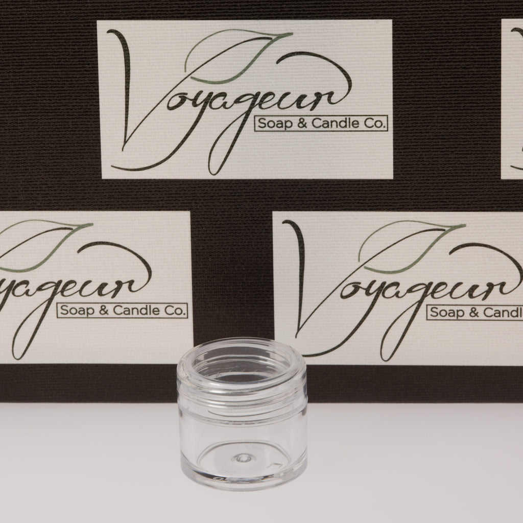 .25oz / 7.5ml Clear Thick Wall Jar with Clear Cap