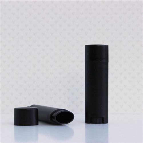 Lip Balm Tube Oval Black 4.5 ml / 0.15 oz