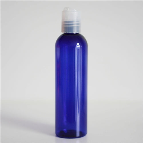 4 oz Blue PET Bullet with Disc Cap - Natural