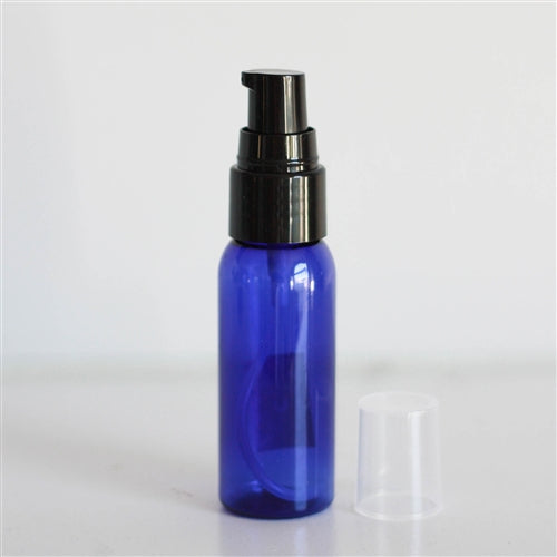 1 oz Blue Bullet with Treatment Pump - Black