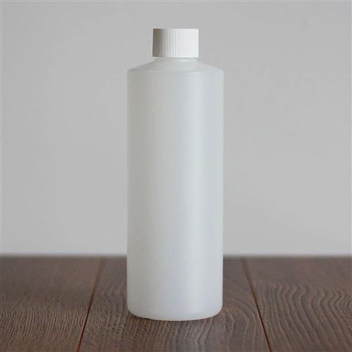 500 ml Natural HDPE Cylinder with White Ribbed Cap