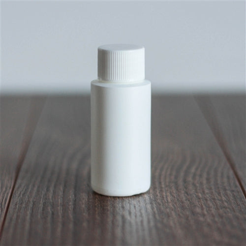 1 oz White Cylinder with White Rib Cap