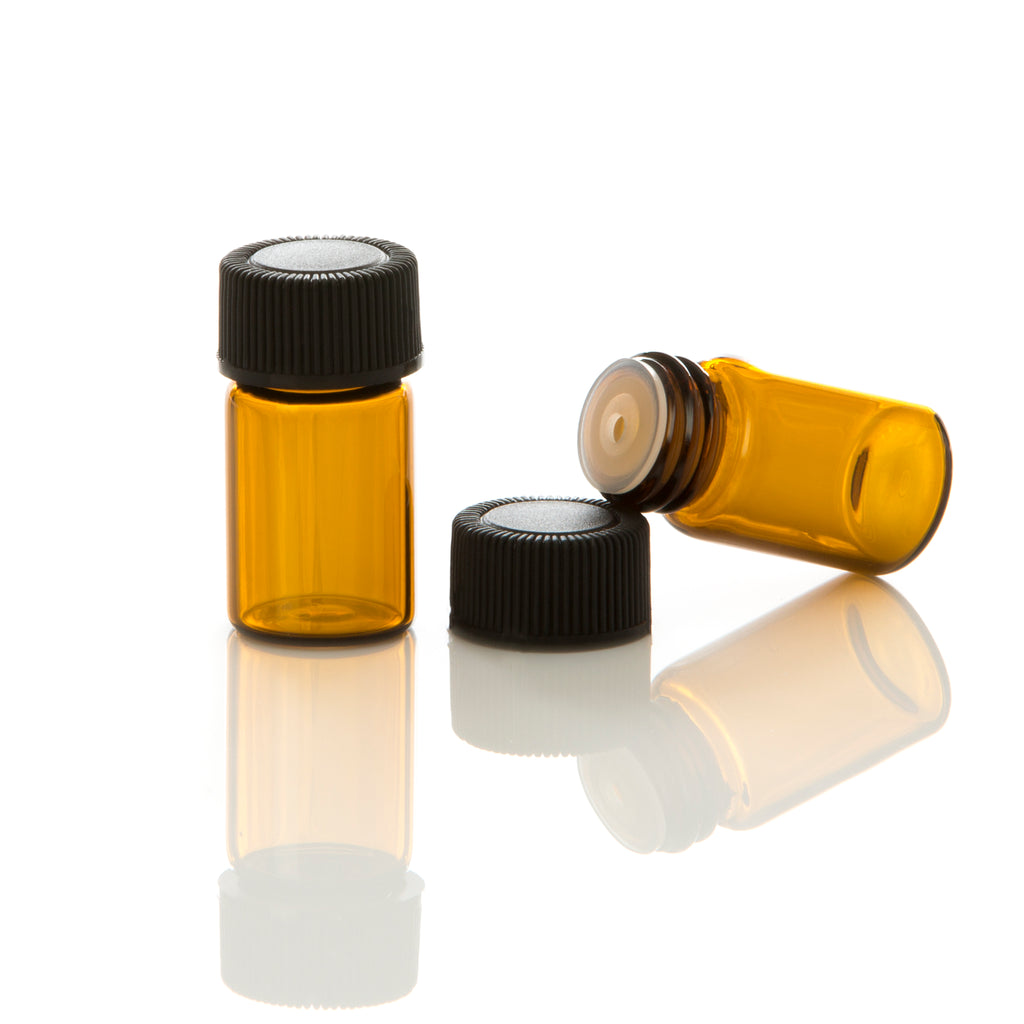 2 ml Amber Glass Vial with Orifice Reducer