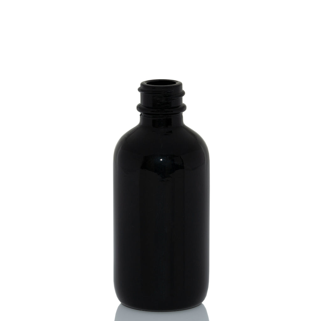 2 oz Black Glass Bottle with 20-400 Neck