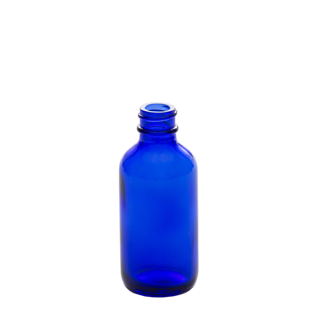 2 oz Blue Glass Bottle with 20-400 Neck