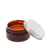 2 oz Amber Shallow Jar with Aluminum Cap
