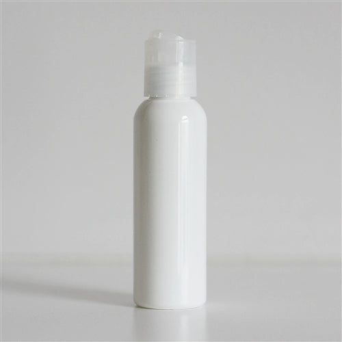 2 oz White Bullet Bottle with Disc Cap - Natural