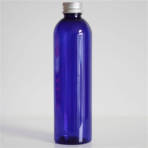 8 oz Blue PET Bullet with Aluminum Cap