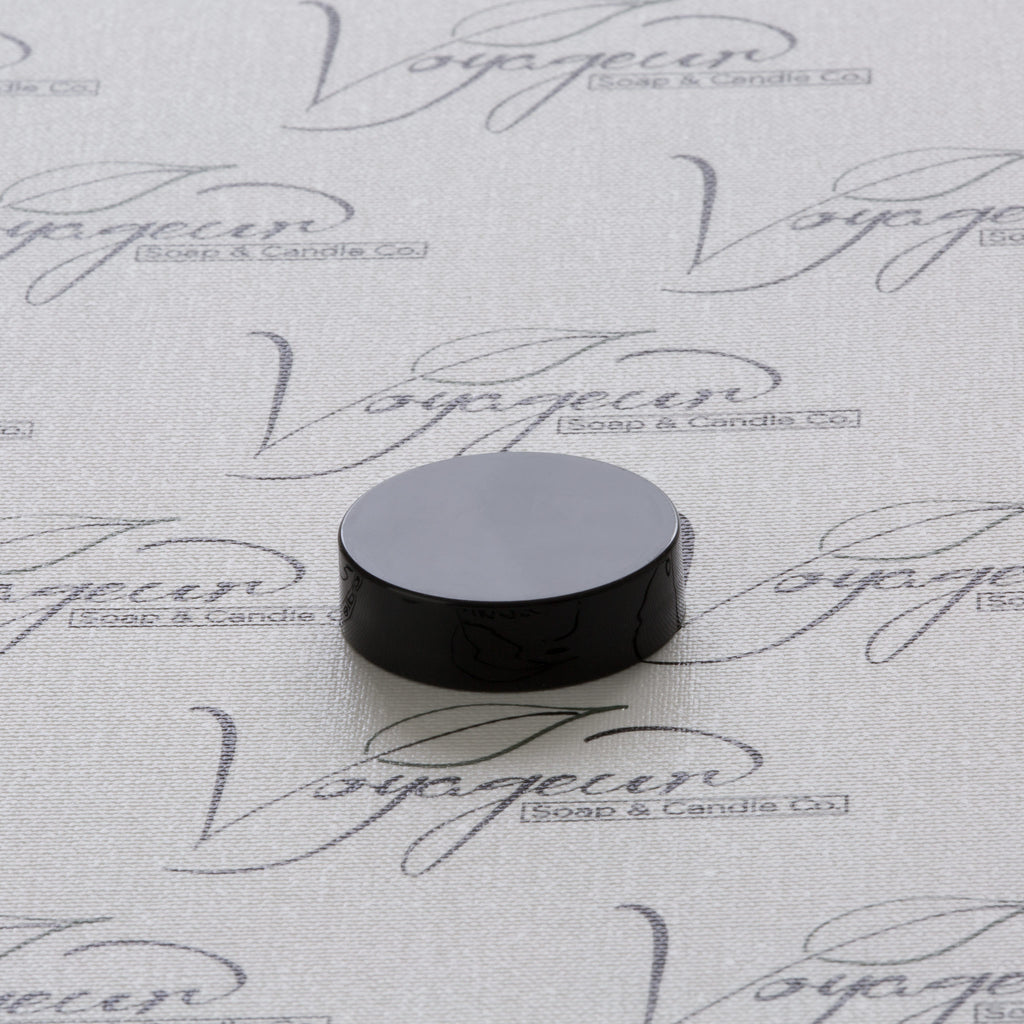 38-400 Black Flat Gloss Smooth Cap