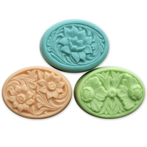 Floral Ovals Milky Way Soap Mold