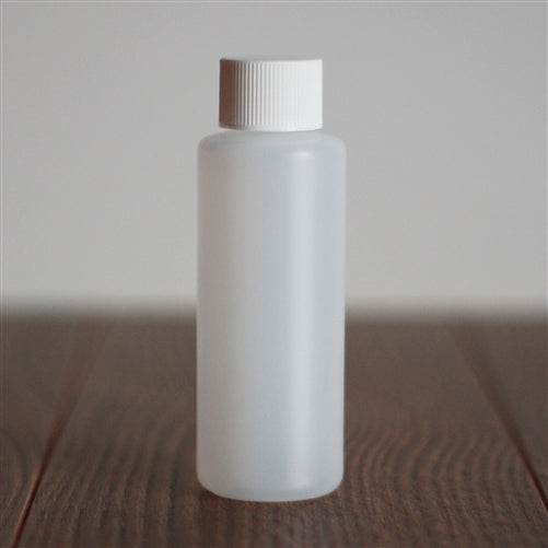 *60 ml Natural HDPE Cylinder with White Rib Cap