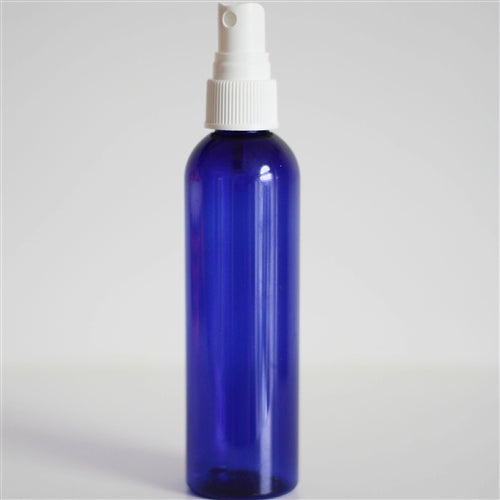 4 oz Blue PET Bullet with Mister - White