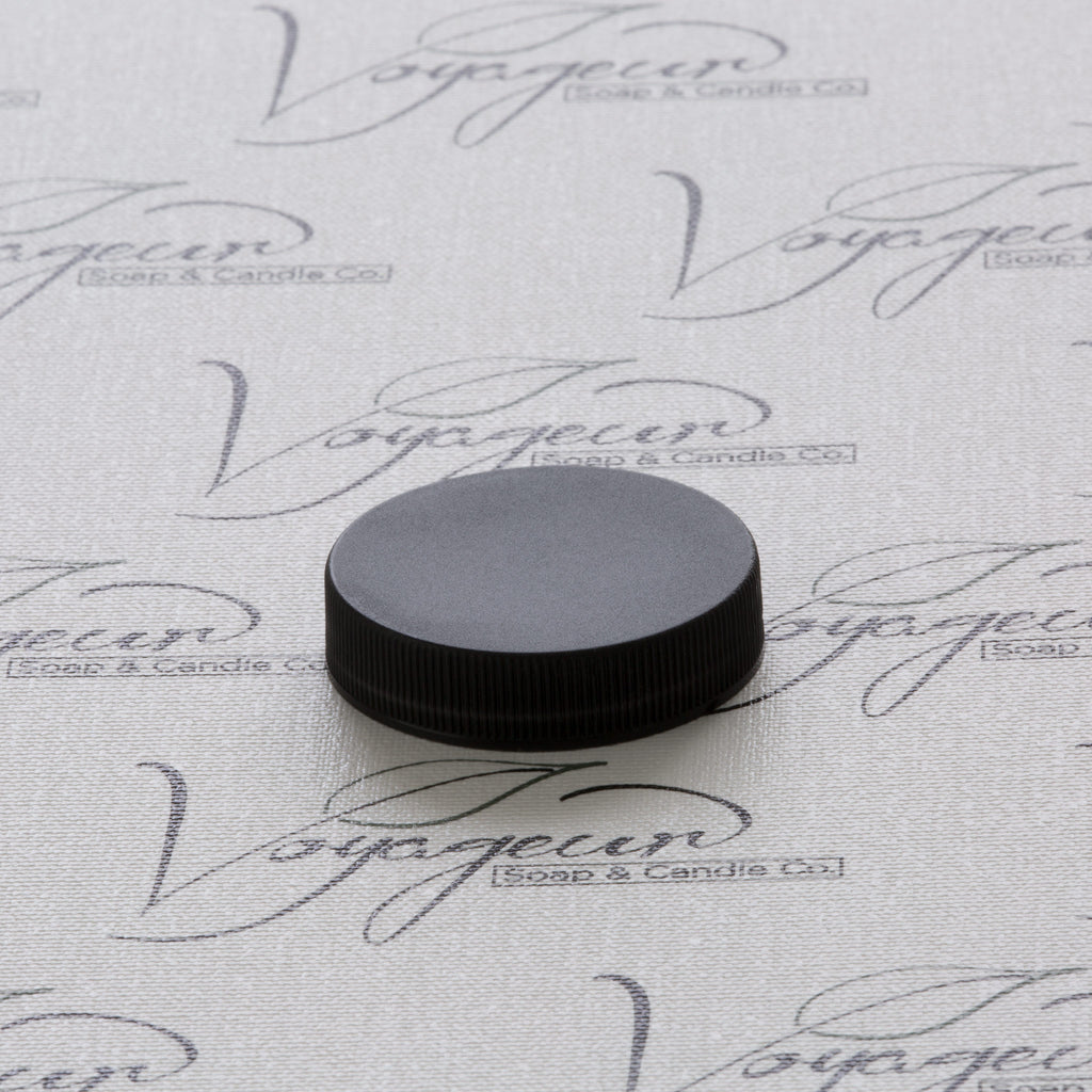 45-400 Black Ribbed Screw Cap