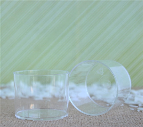 Spa Clear Plastic Tea Light Cups