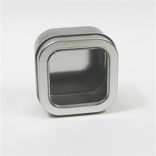 4 oz Square Window Top Seamless Tin
