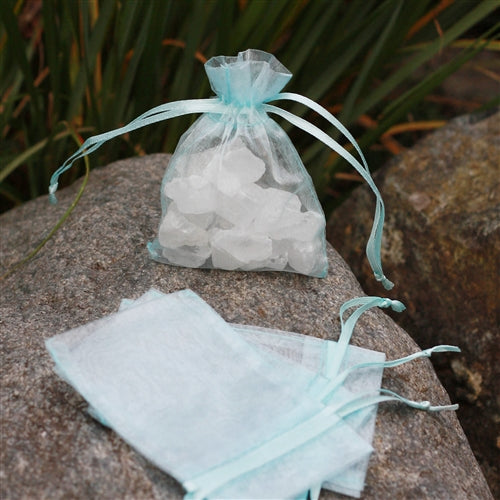 "3"" x 4"" Organza Bag - Ice Blue"