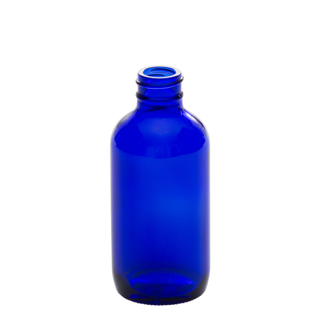 4 oz Blue Glass Bottle with 24-400 Neck