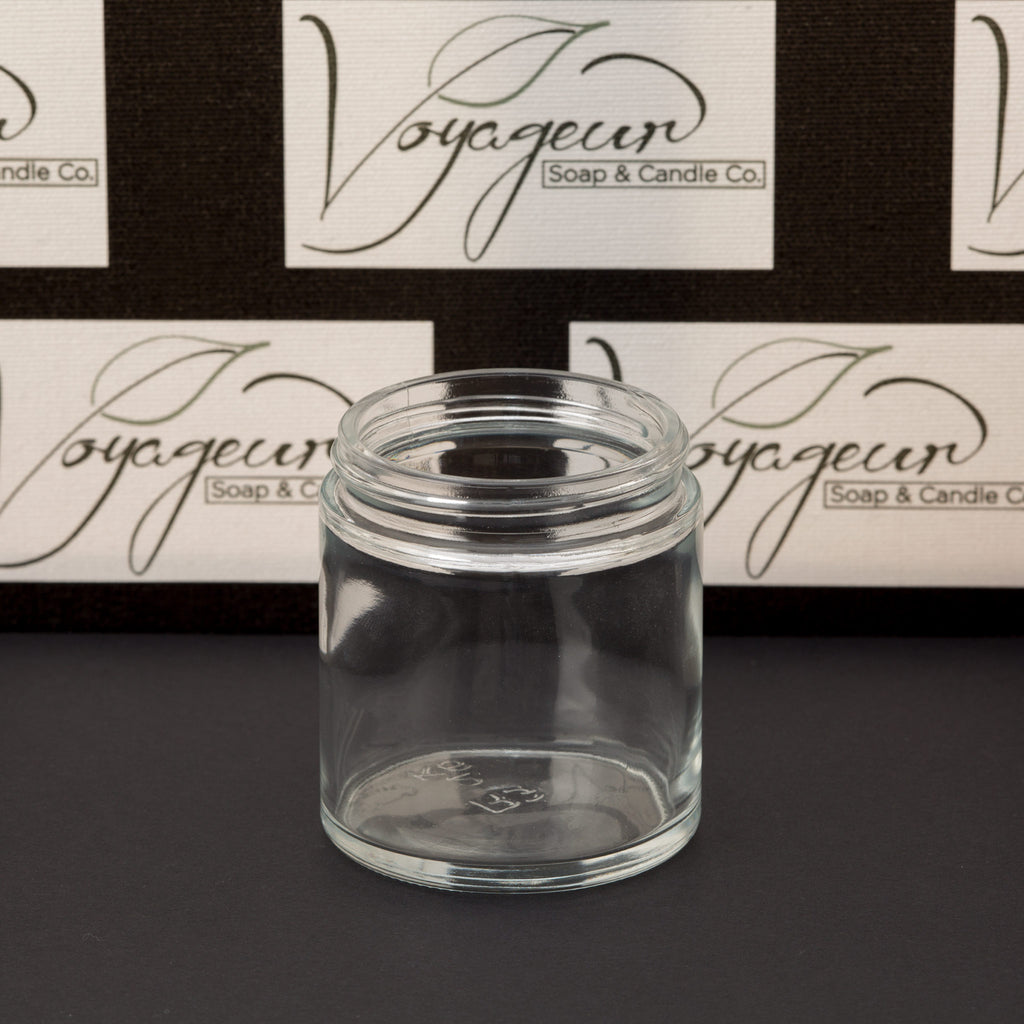 4 oz Clear Glass Jar with No Closure