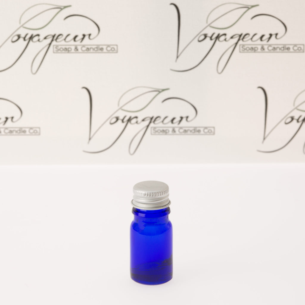 5 ml Blue Essential Oil Bottle with 18-400 Aluminum Cap