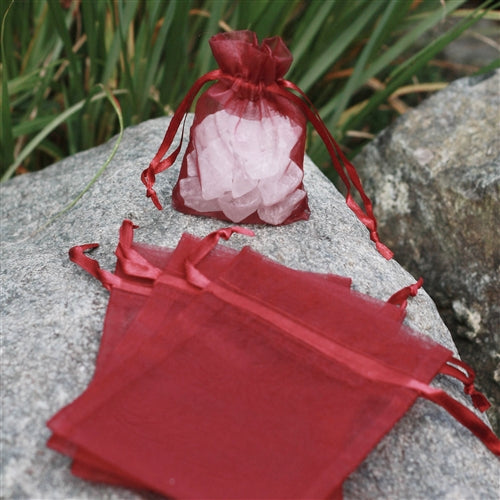 "3"" x 4"" Organza Bag - Burgundy"