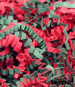Basket Shred Crinkle Cut Red and Green Mix