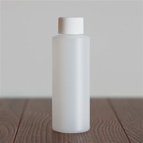 120 ml Natural HDPE Cylinder with White Rib Cap