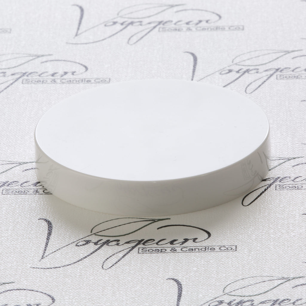 89-400 White Flat Gloss Smooth Cap