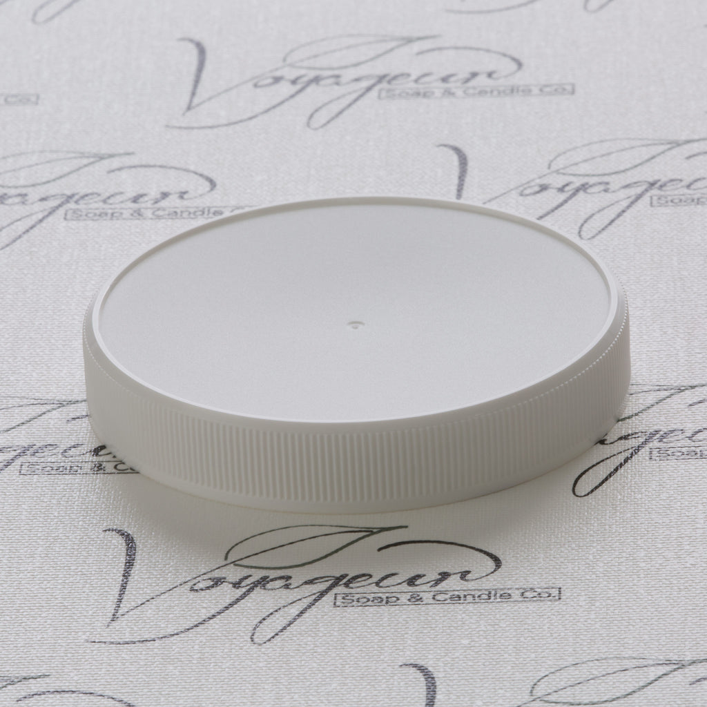 89-400 White Ribbed Screw Cap