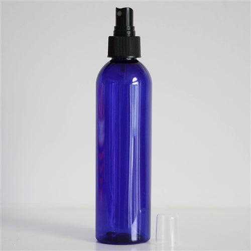 8 oz Blue PET Bullet with Mister - Black
