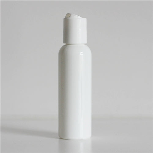 2 oz White Bullet Bottle with Disc Cap - White