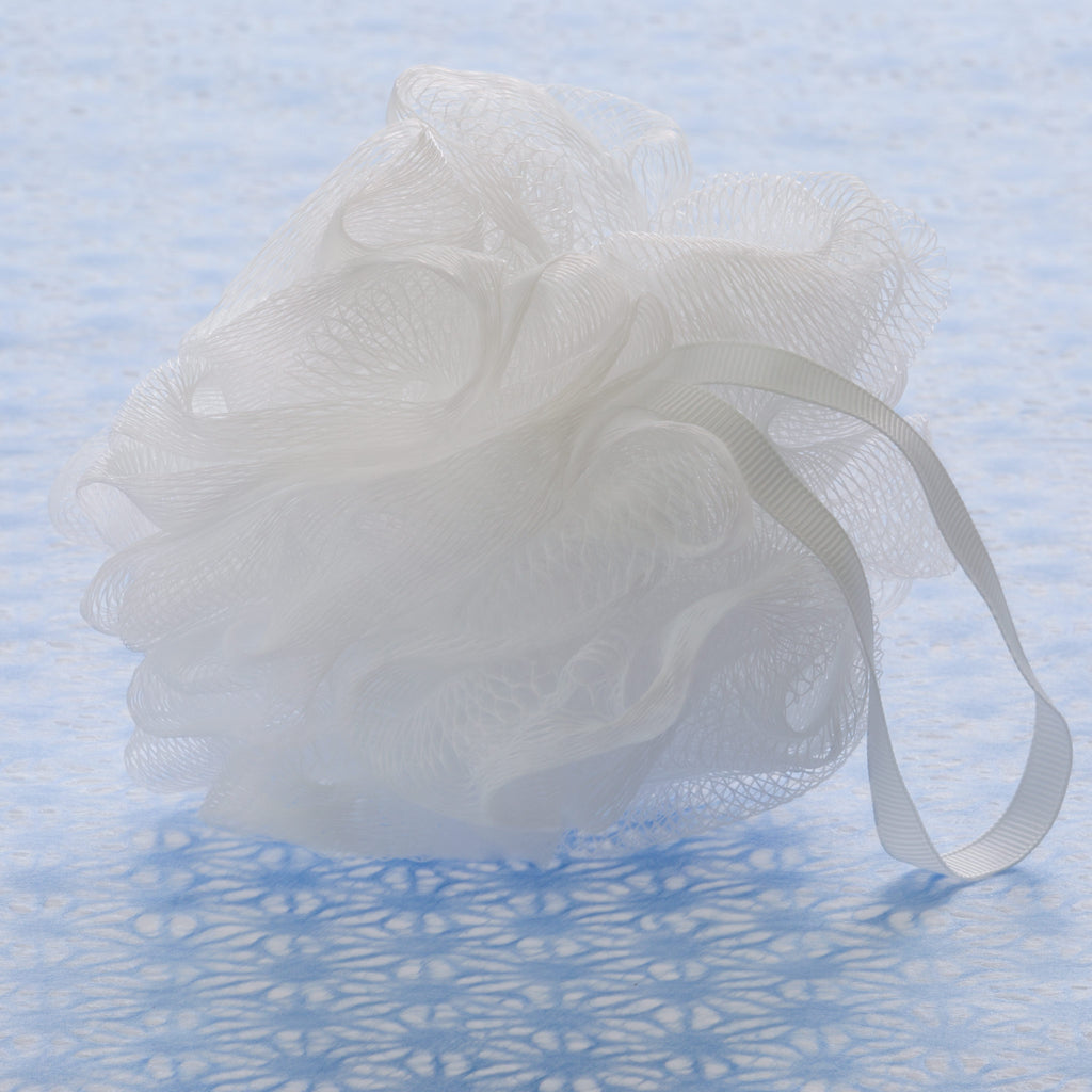White Mesh Bath Sponge - Small