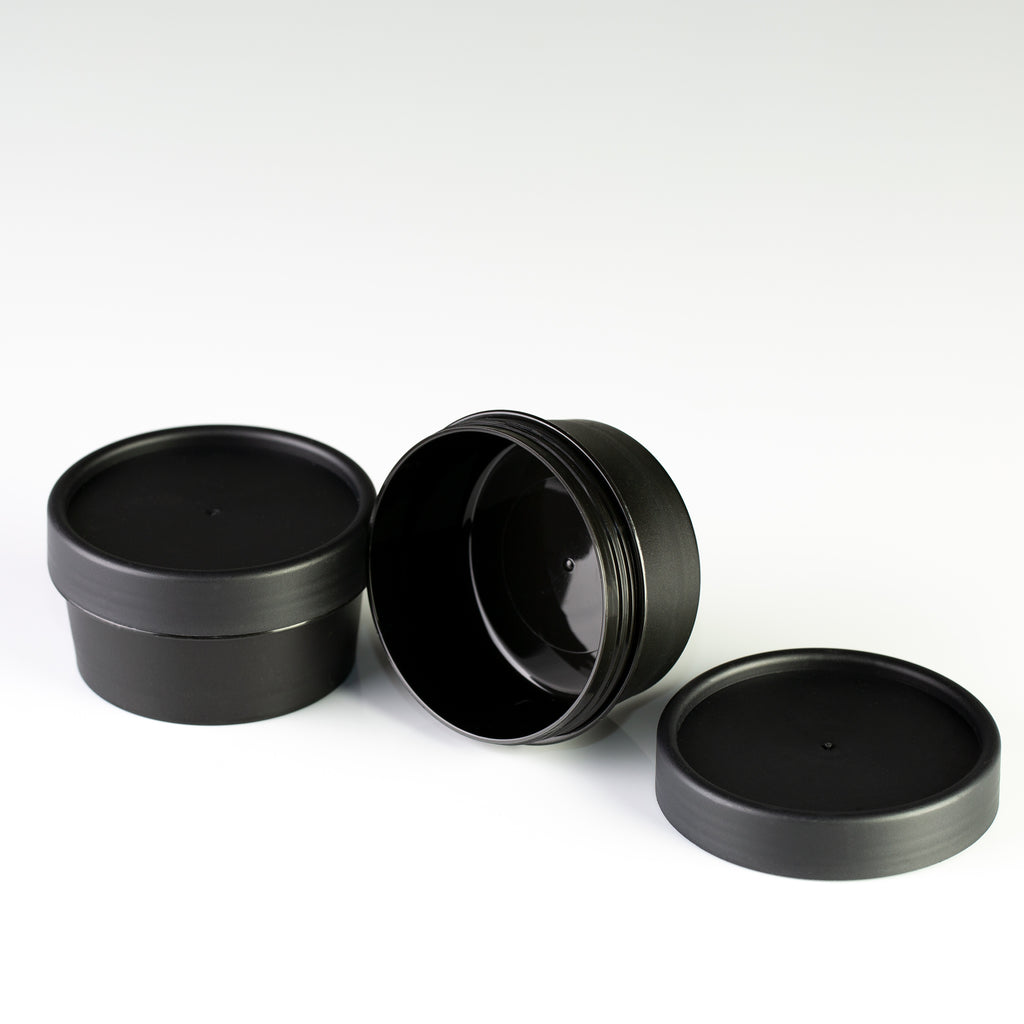 1.7oz (50ml) Black Cosmetic Pot with Lid