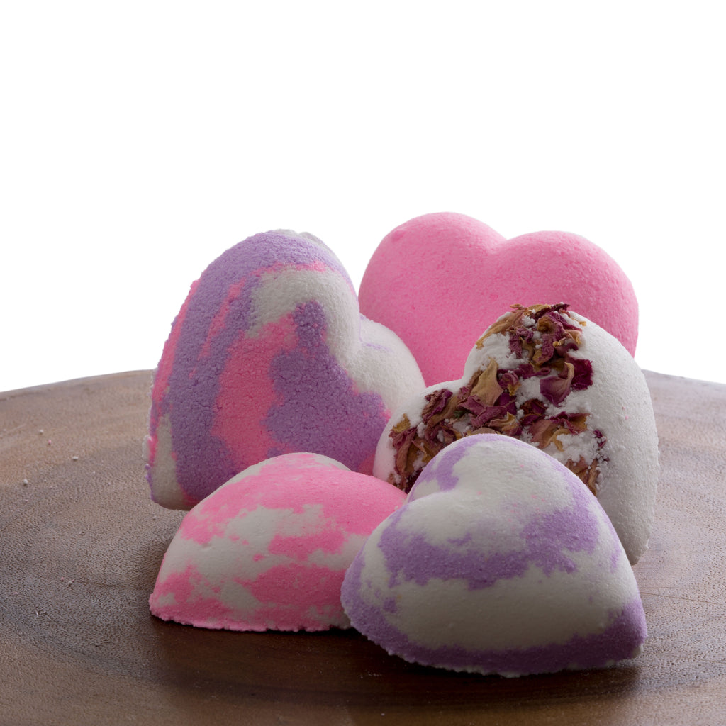 Hearts and Roses Deluxe Bath Bomb Kit